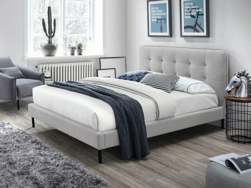 łóżko Sally 160x200 Kolor Szaryczarny Tap 77